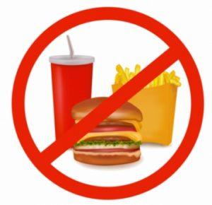 Unikaj dań typu fast food