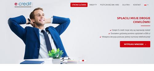 e-credit.com.pl opinie e credit (33 opinie) pożyczka
