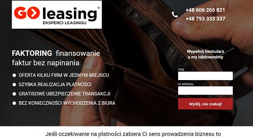 GO Faktoring Opinie go-faktoring.pl (34 opinie)