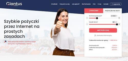 pożyczka przez internet kredyt
