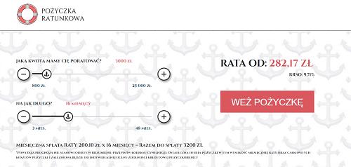 Pożyczka Ratunkowa na raty do 25 000 zł