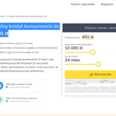 Moni365 – Korzystny kredyt konsumencki do 60 000 zł